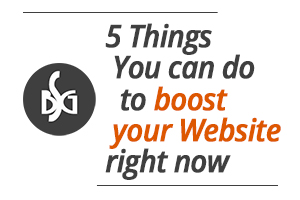 5 things to help your website right now
